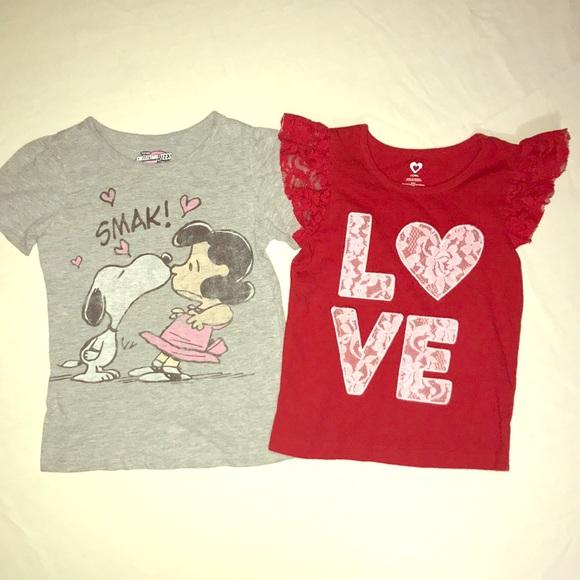 Old Navy Shirts Tops Valentines Day Shirts Snoopy Poshmark